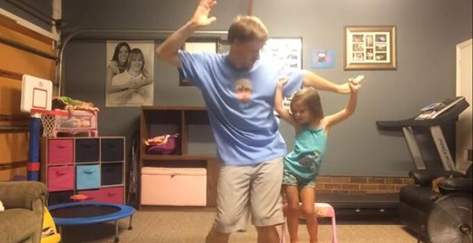 dad daughter dance to shake it off